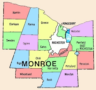 Maps For Monroe County NY - Nys county map